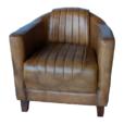 Industriële-echt-lederen-fauteuil