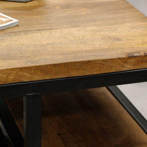 Salontafel industrieel hout en metaal frame