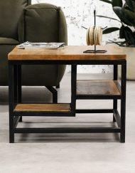 Salontafel industrieel hout en metaal