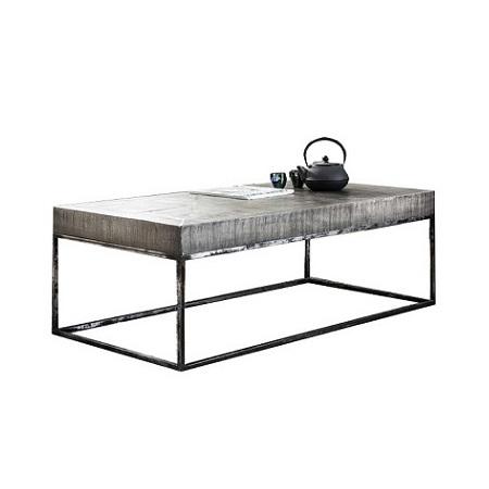 Bekend Salontafel hout met metalen onderstel Blockdesign #YC28