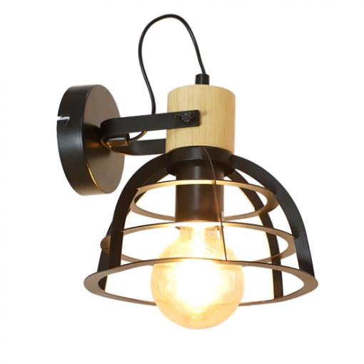 Stoere industriële wandlamp