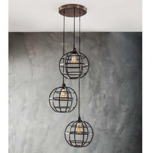 Hanglamp metaal rond industrieel