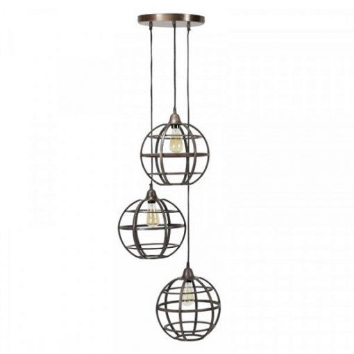 Hanglamp metaal rond industriele