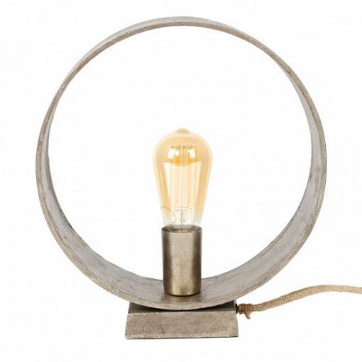 Tafellamp design metaal grijs