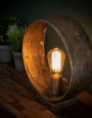 Tafellamp design metaal nikkel