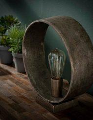 Tafellamp design metaal nikkel grijs