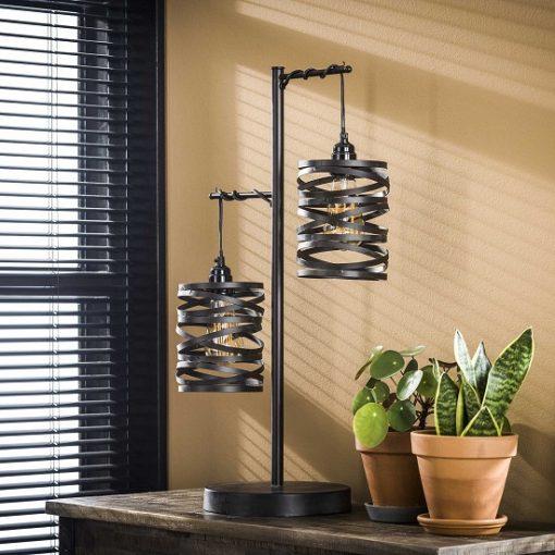Tafellamp design vintage zwart
