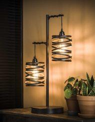 Tafellamp design vintage zwart kap