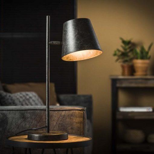 Industrieel verstelbaar tafellamp kap
