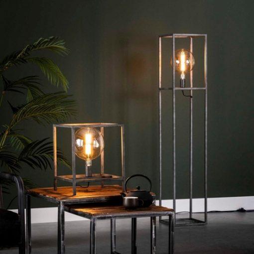 Staande lamp industrieel vier