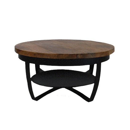 Wonderbaar Stoere industriele salontafel zwart Blockdesign DA-86