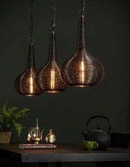 Design hanglamp zwart draad