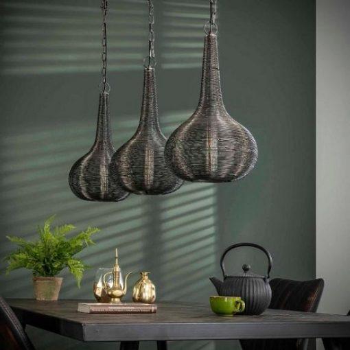 Design hanglamp zwart draad metaal