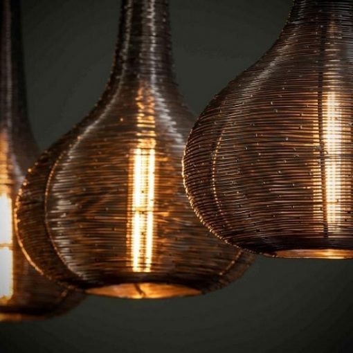 Design hanglamp zwart metaal
