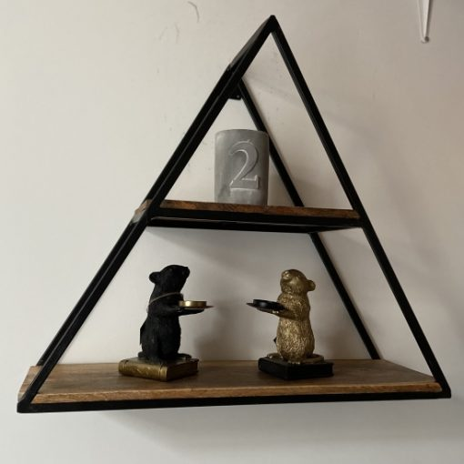 Wandkastje industrieel driehoek