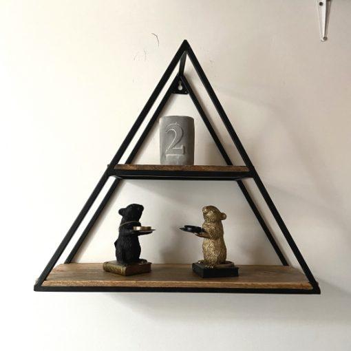 Wandkastje industrieel metaal driehoek