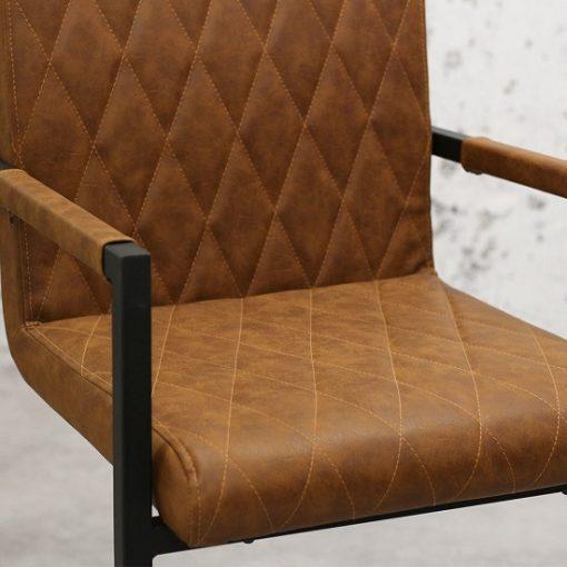 Bagino industriele stoelen cognac