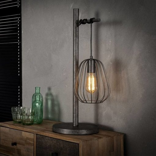 Tafellamp industrieel metalen kap