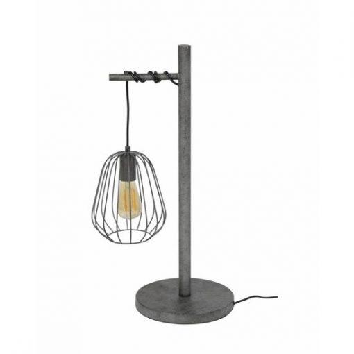 Tafellamp industrieel metalen kap draad