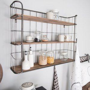 Bakkersrek metaal met houten planken