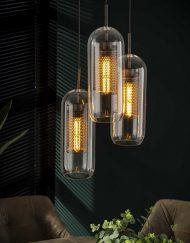 Glazen hanglamp industrieel