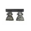 Plafondlamp industrieel met twee spots