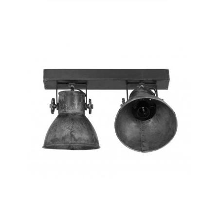 Plafondlamp industrieel met twee spots blockdesign for Industriele spots