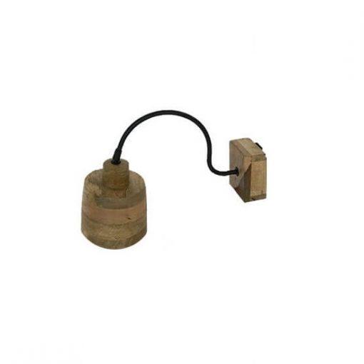 Wandlamp houten kap rond