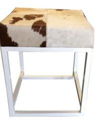Kruk wit met koeienvacht wit bruin