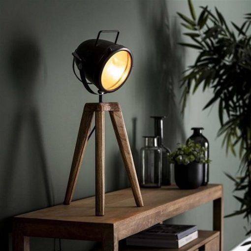 Bureaulamp industrieel vintage zwart