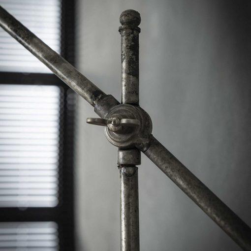 Industriele bureaulamp verstelbaar grijs