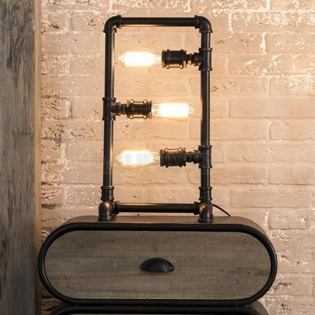 Tafellamp buizen zwart