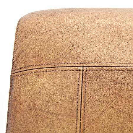 Industriele fauteuil cognac leder