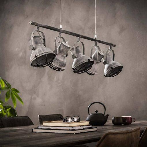 Vintage industriele hanglamp metaal