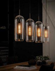Glazen hanglamp helder