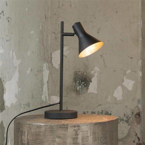 Scandinavische tafellamp zwart goud
