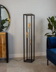 Vloerlamp zwart rechthoekig design