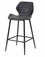 Barstoel met rugleuning zwart