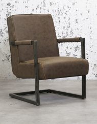 Fauteuil eco leer taupe