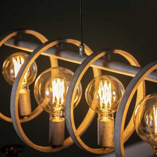 Hanglamp eettafel industrieel grijs