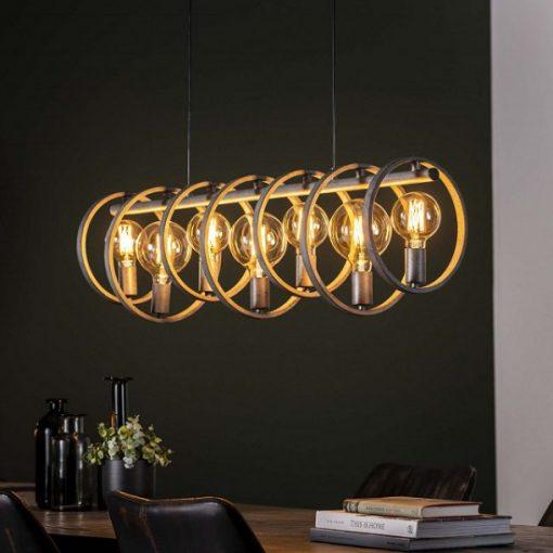 Hanglamp eettafel industrieel metaal