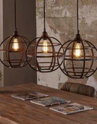 Hanglamp metaal koper rond