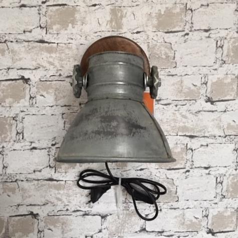 Industriele wandlamp metaal kap
