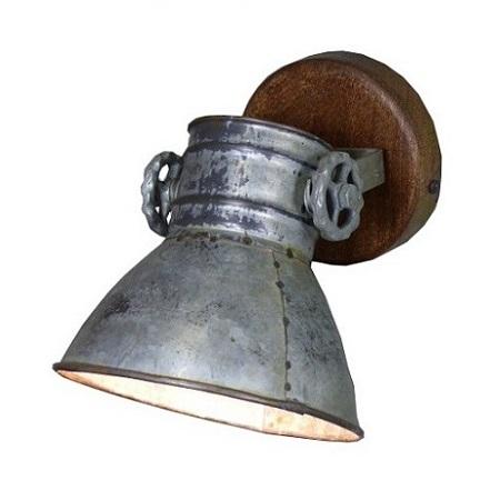 Industriele wandlamp metalen kap