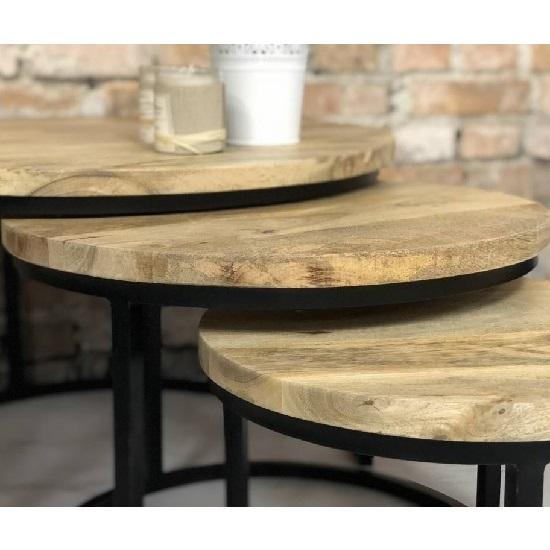 Beste Ronde salontafel industrieel metaal - Blockdesign FL-03