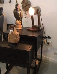 Tafellamp metalen kap vintage kleur