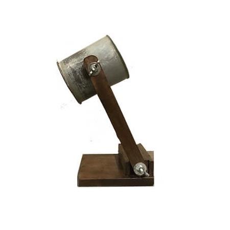 Tafellamp metalen kap vintage