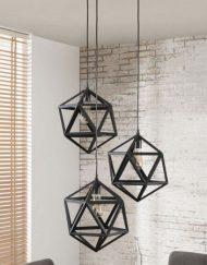 Moderne zwart metalen hanglamp
