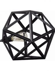 Moderne zwart metalen tafellamp