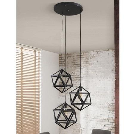 Moderne zwarte industriele hanglampen